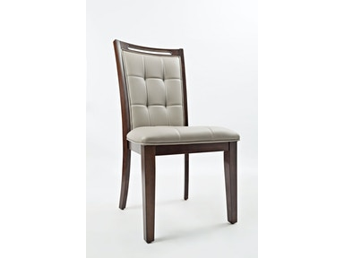 Jofran Upholstered Dining Chair- Grey PU 2/Ctn 1672-385KD