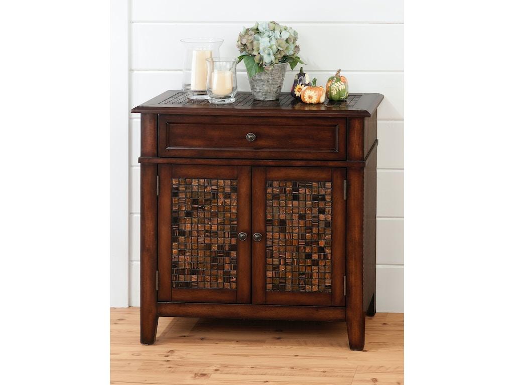 Jofran living room accent cabinet 687923 furnitureland for Baroque 2 door accent cabinet
