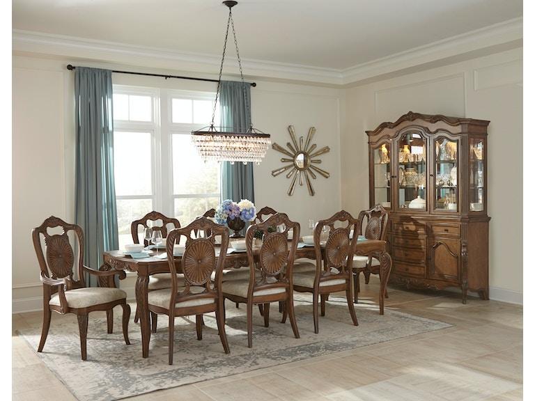 Homelegance Dining Table Pecan Veneer 1704 108
