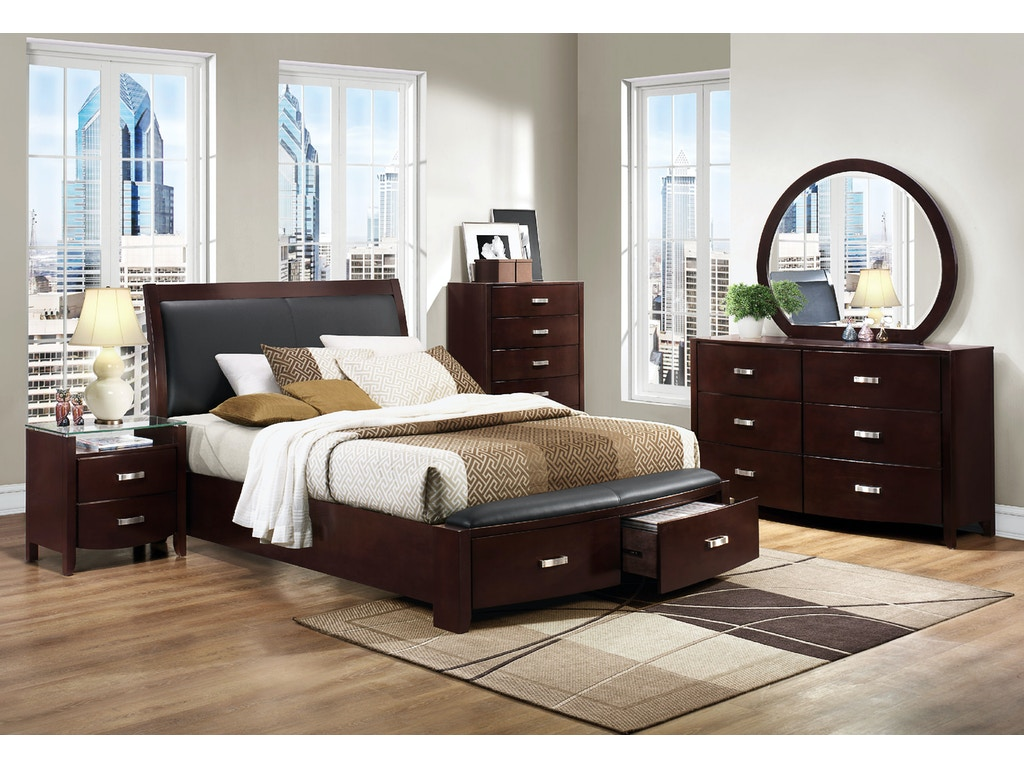 Homelegance bedroom 1 3 queen platform headboard 1737nc for H plan bedroom furniture