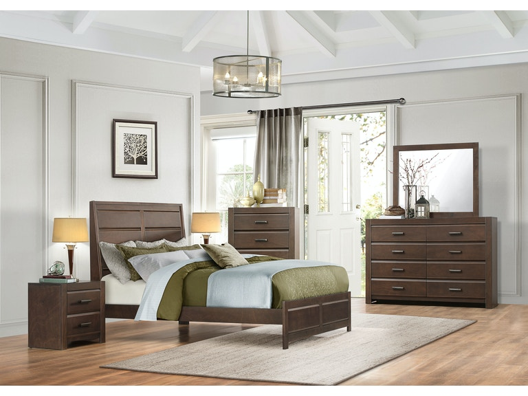 Homelegance Bedroom 1 2 Queen Headboard And Footboard And Sl Drk