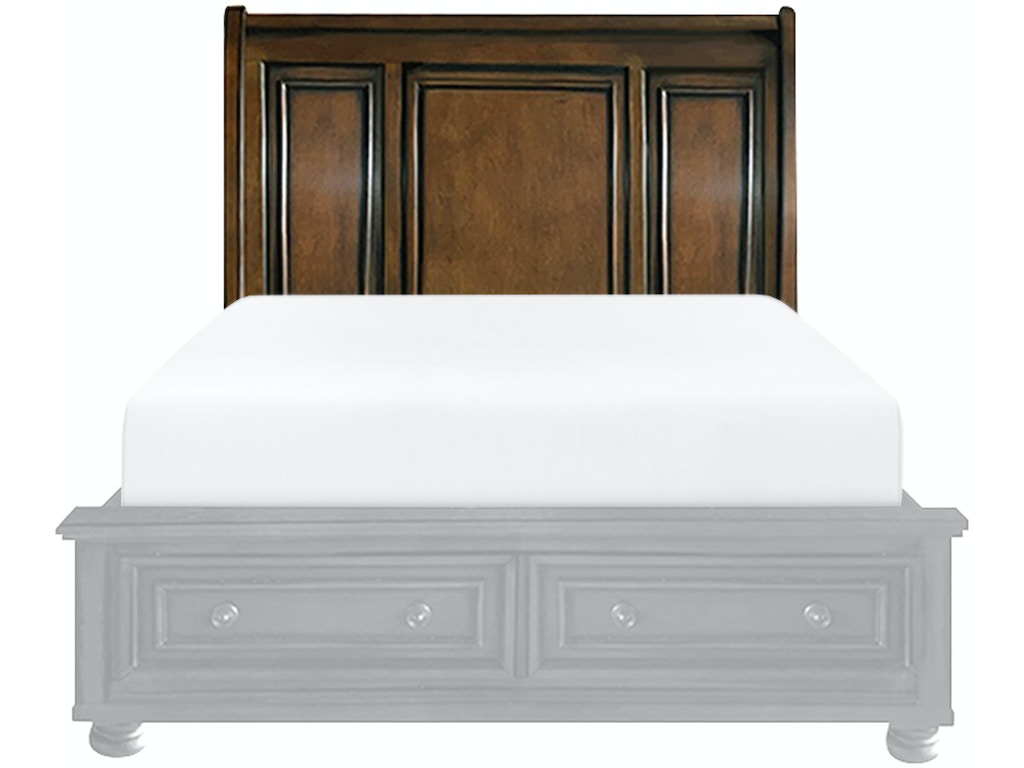 Homelegance bedroom 1 3 queen platform headboard 2159 1 for H plan bedroom furniture
