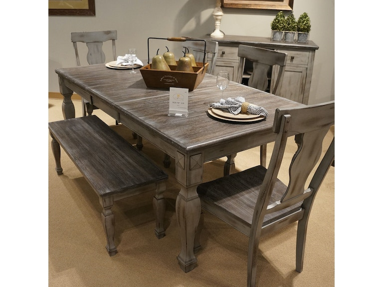 Homelegance Dining Table Solid Wood Top Butterfly 2 Tone 5520 78