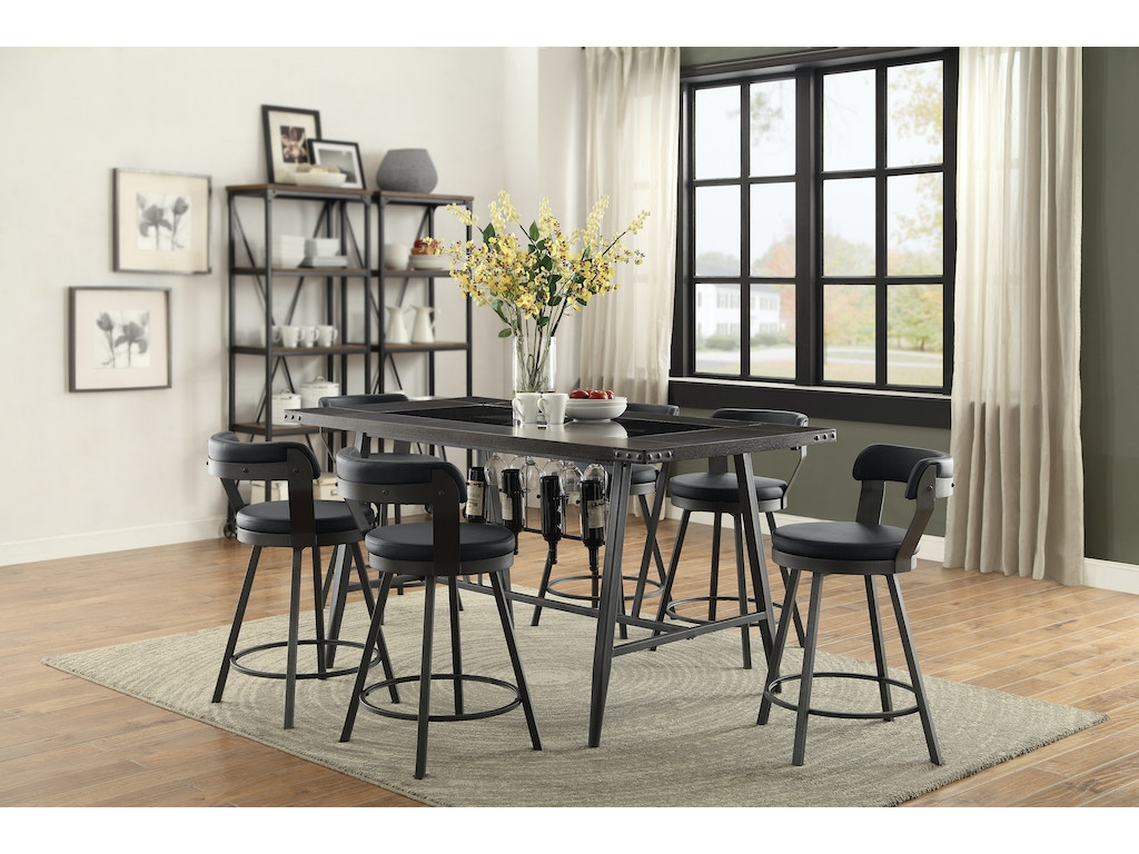 Homelegance 1 2 Counter Height Table Top And Base 5566 36
