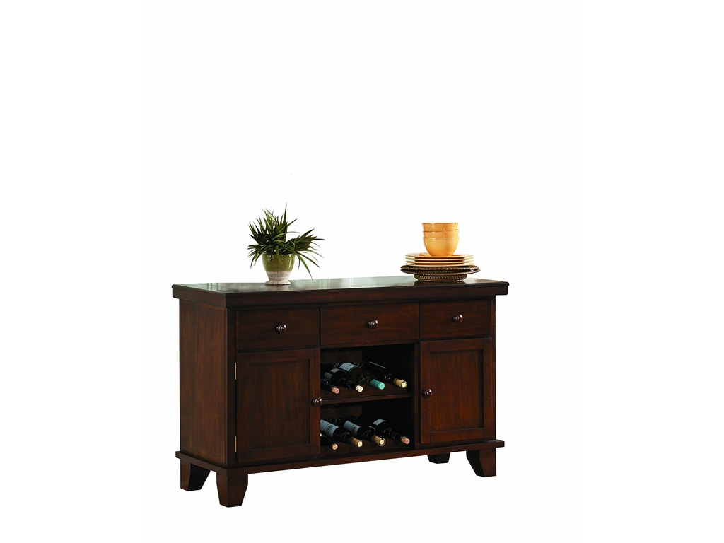 Homelegance dining room server with 2 wine racks 586 40 evans furniture galleries chico - Dining room server furniture ...