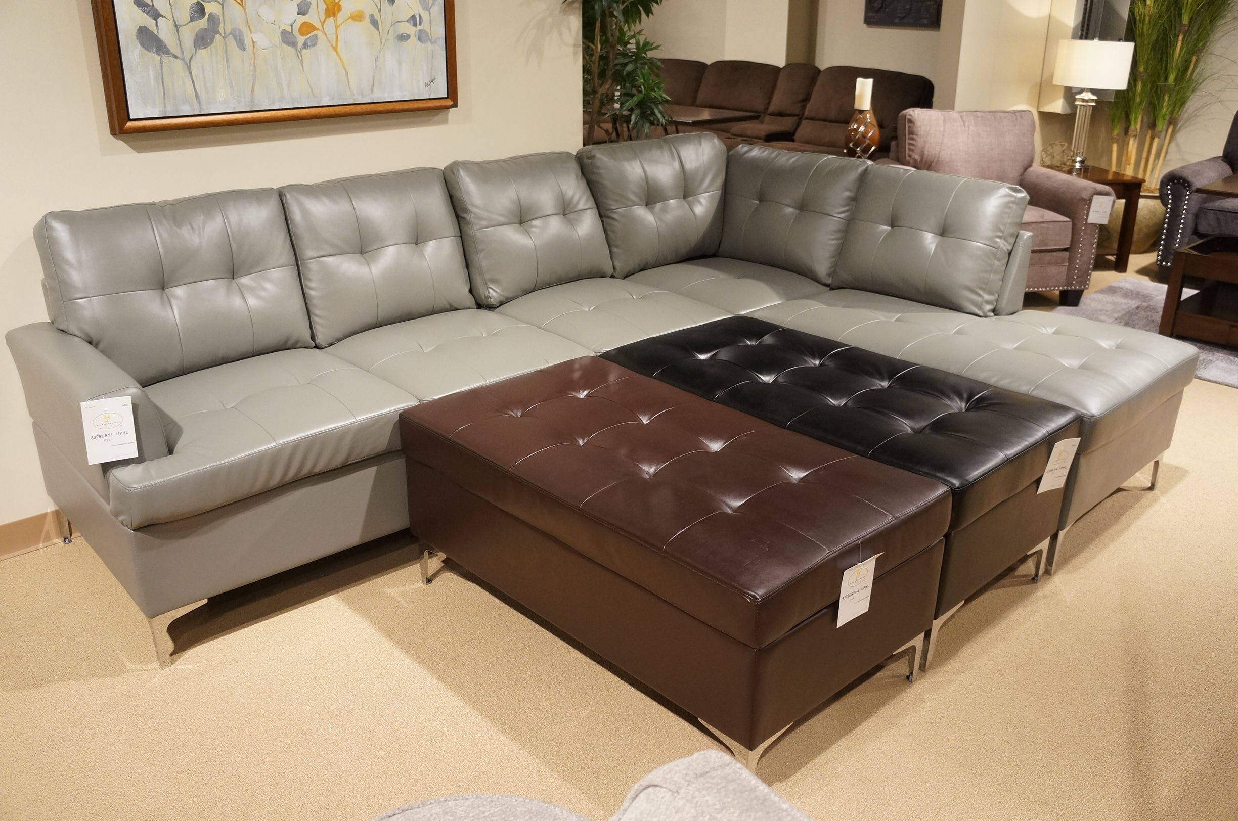 Homelegance 8378GRY Sectional