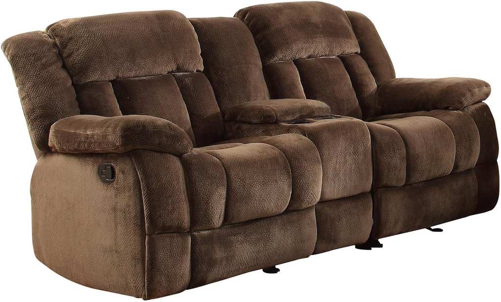 Homelegance Double Recliner Glider Loveseat With Center Console 9636 2