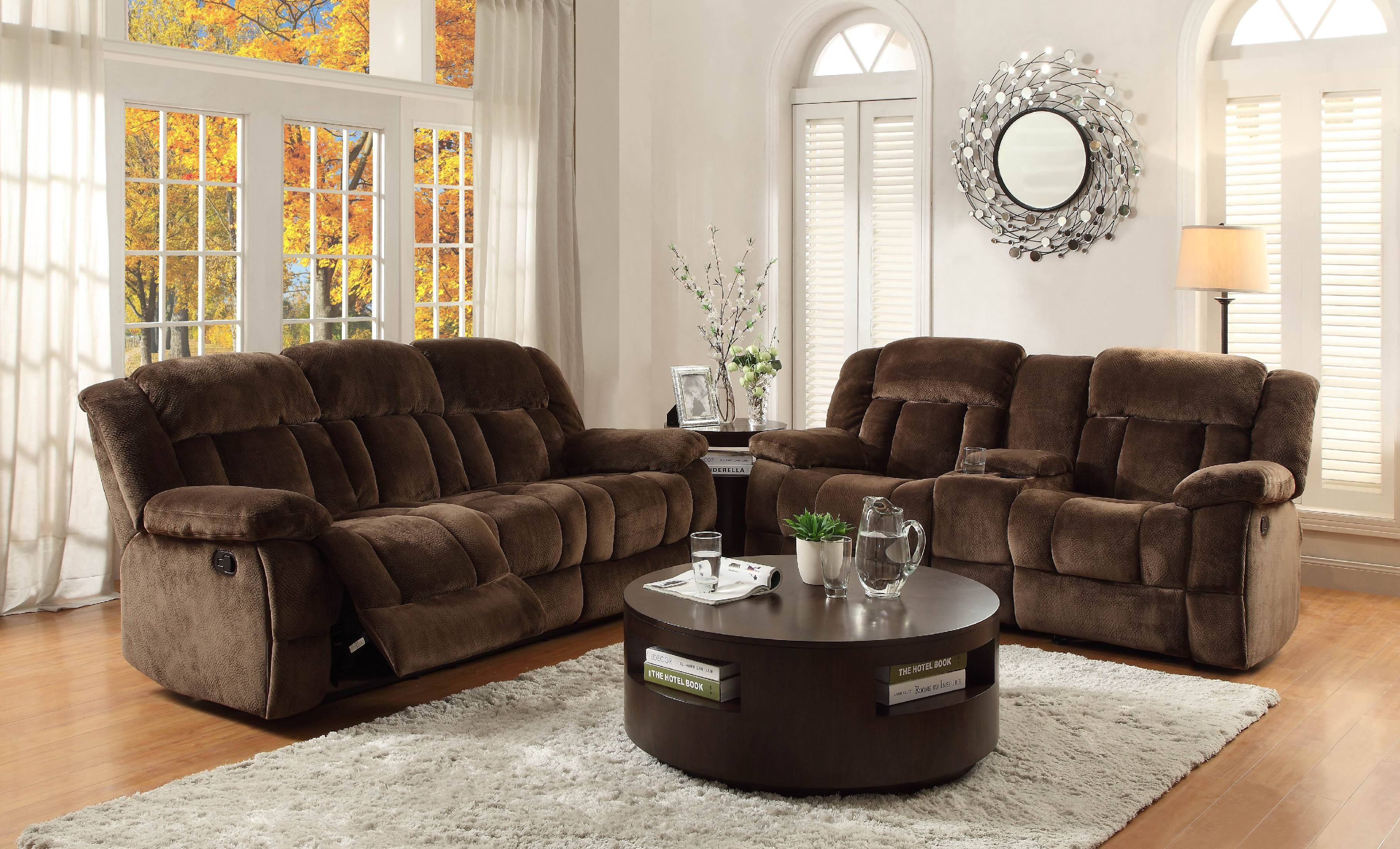 Homelegance Double Recliner Glider Loveseat With Center Console 9636-2  sc 1 st  D Noblin Furniture Store & Homelegance Living Room Double Recliner Glider Loveseat With ... islam-shia.org