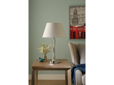 Homelegance Table Lamp, Chrome Metal Finish H10490R