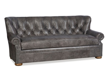 602 Tuft-This sofa is the answer for those smaller spaces. Small in size but not in looks this classic English style sofa mimics the tufts a