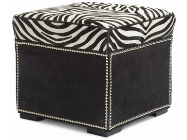 Hancock and Moore Abbey Ottoman With Border 037-B
