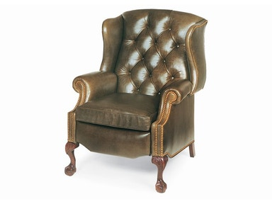 Hancock & Moore Sterling Tufted Wing Chair Power Recliner
