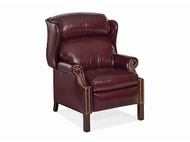 Hancock and Moore Woodbridge Chippendale Wing Chair Recliner 1021