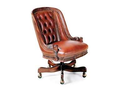 Hancock and Moore Appointment Tufted Swivel-tilt Chair 1574ST