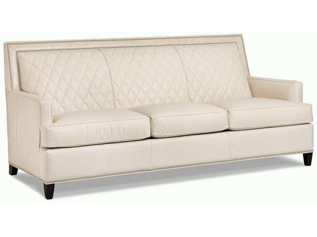 Hancock And Moore Living Room Arrington Quilted Sofa 5911 3 Georgia Furniture Savannah Ga