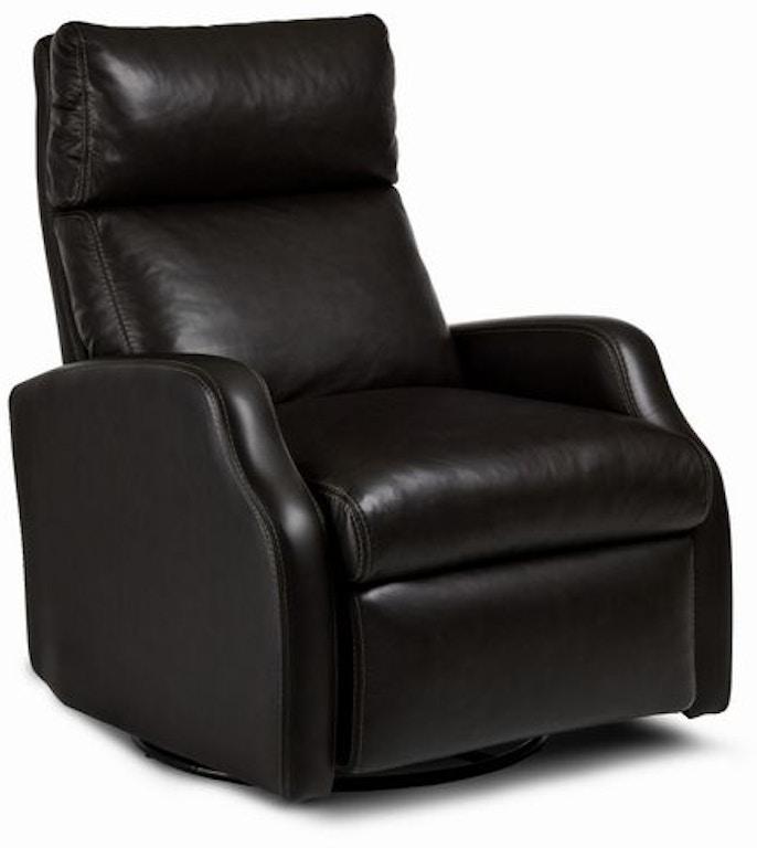 Leather Sofa Repair Ocala: Hancock And Moore Living Room Anya Swivel Power Recliner