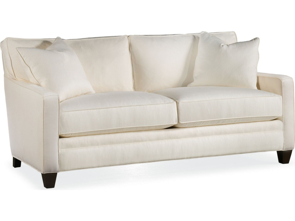 Thomasville living room mercer small 2 seat sofa 1803 13 hamilton sofa leather gallery Small white loveseat