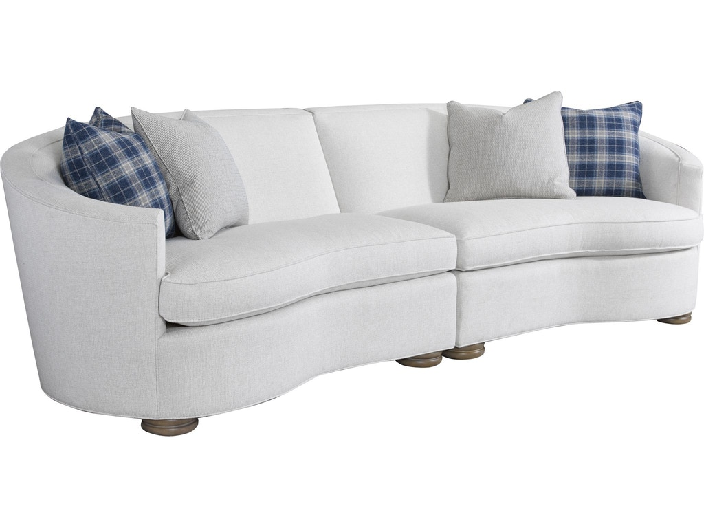 Thomasville living room isla sectional 2608 sect for Sectional sofa hamilton