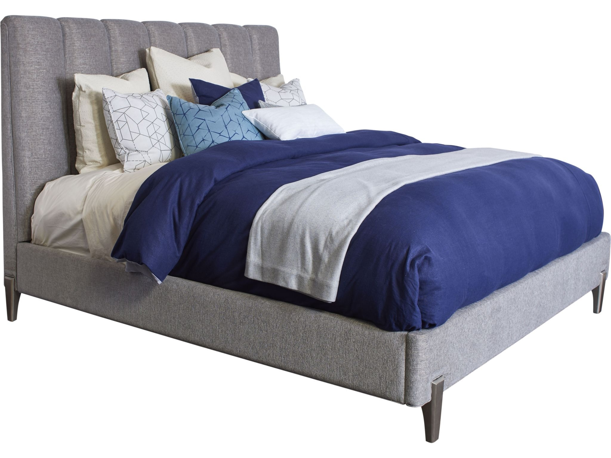 Thomasville Bedroom Leah Upholstered Bed (Queen) 84711 455   Bacons  Furniture   Port Charlotte, FL