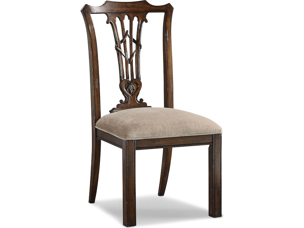 Thomasville Dining Room Celtic Heart Side Chair 85122 831 Priba Furniture And Interiors