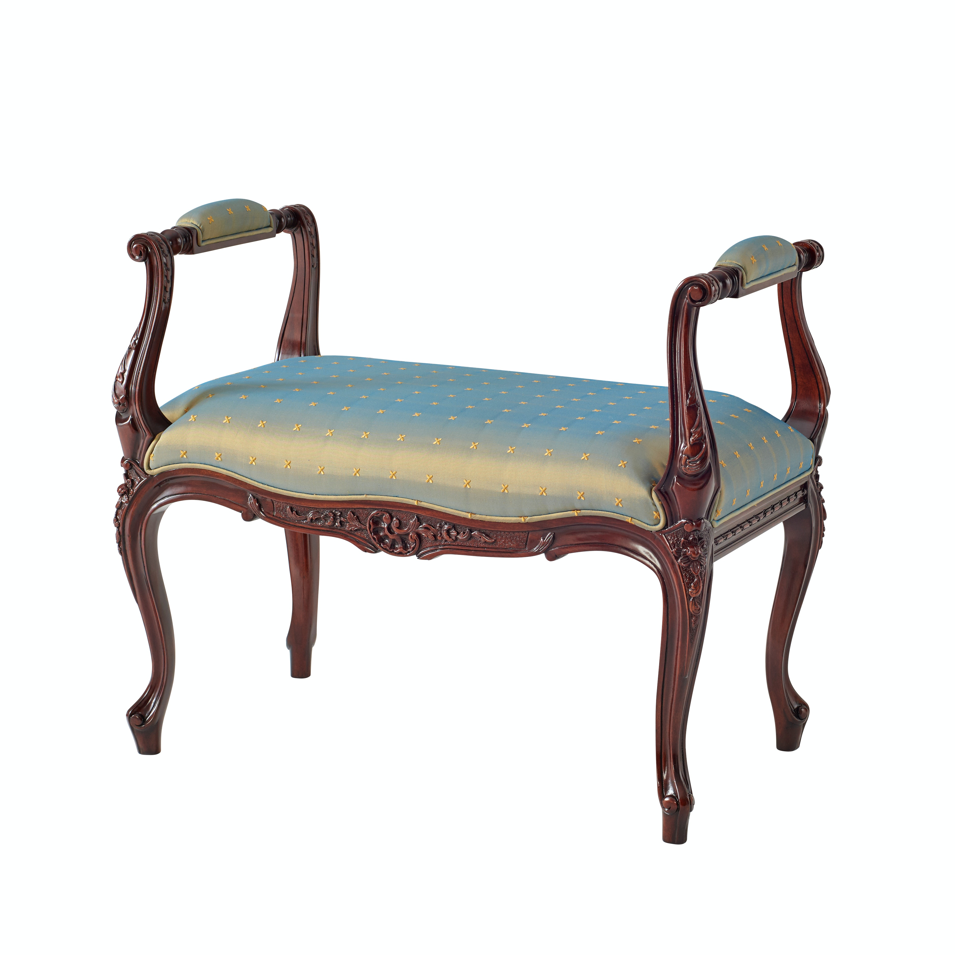 Theodore Alexander A Hand Carved Stool Or Window Seat 4400 150.1ABM