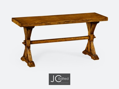 Jonathan Charles Narrow Solid Country Walnut Topped Bench 491088-CFW