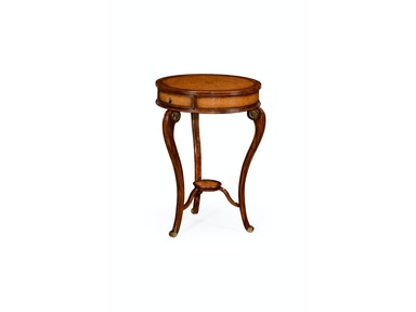 Jonathan Charles Leather Inset Round Lamp Table