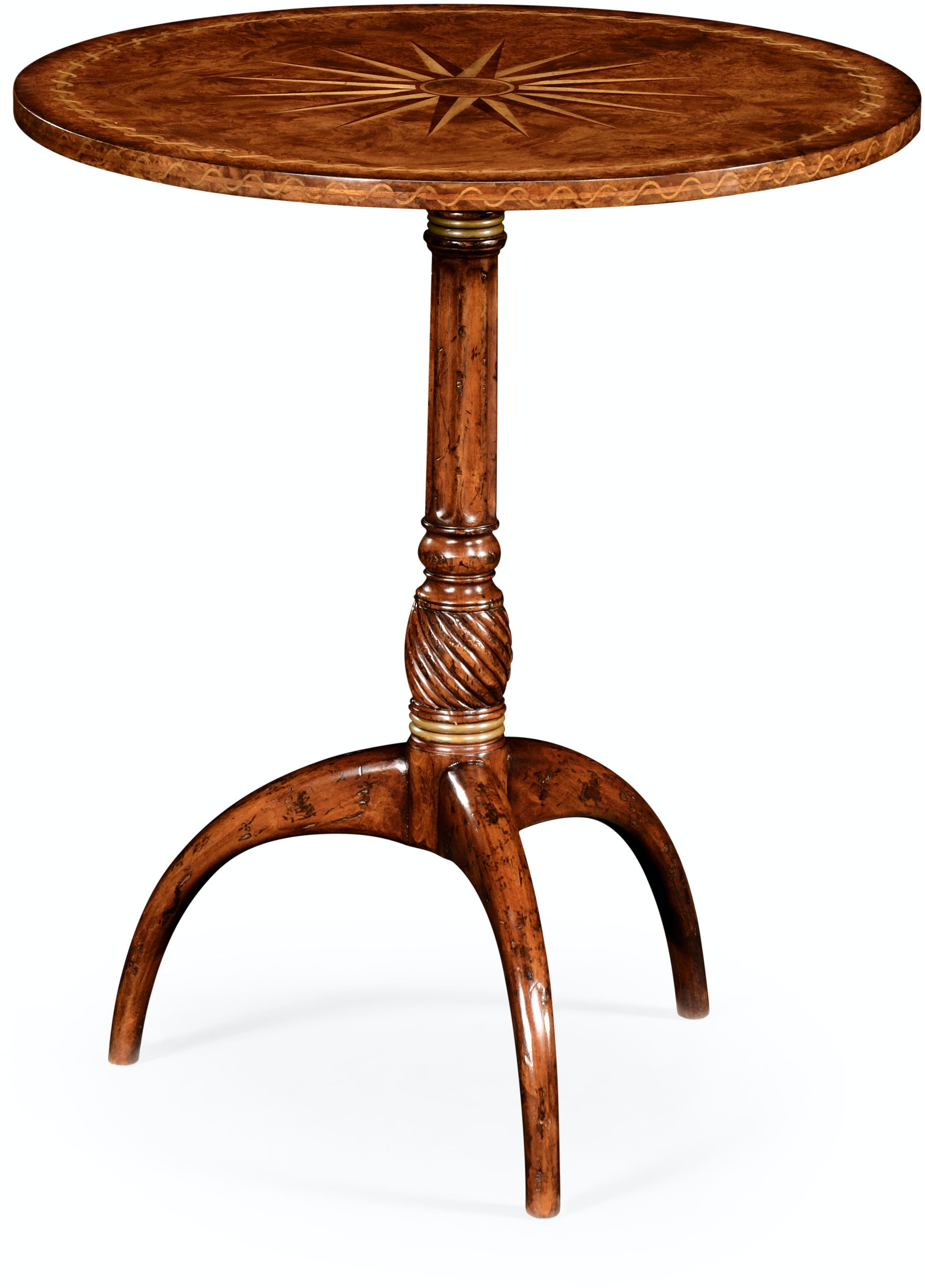 jonathan charles living room small lamp table with starburst inlay