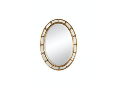 Jonathan Charles Oval Panelled Gilded Mirror (Plain Mirror Glass) 492697-GIL
