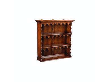 Jonathan Charles Walnut Hanging Shelf With Scalloped Shelves 492856