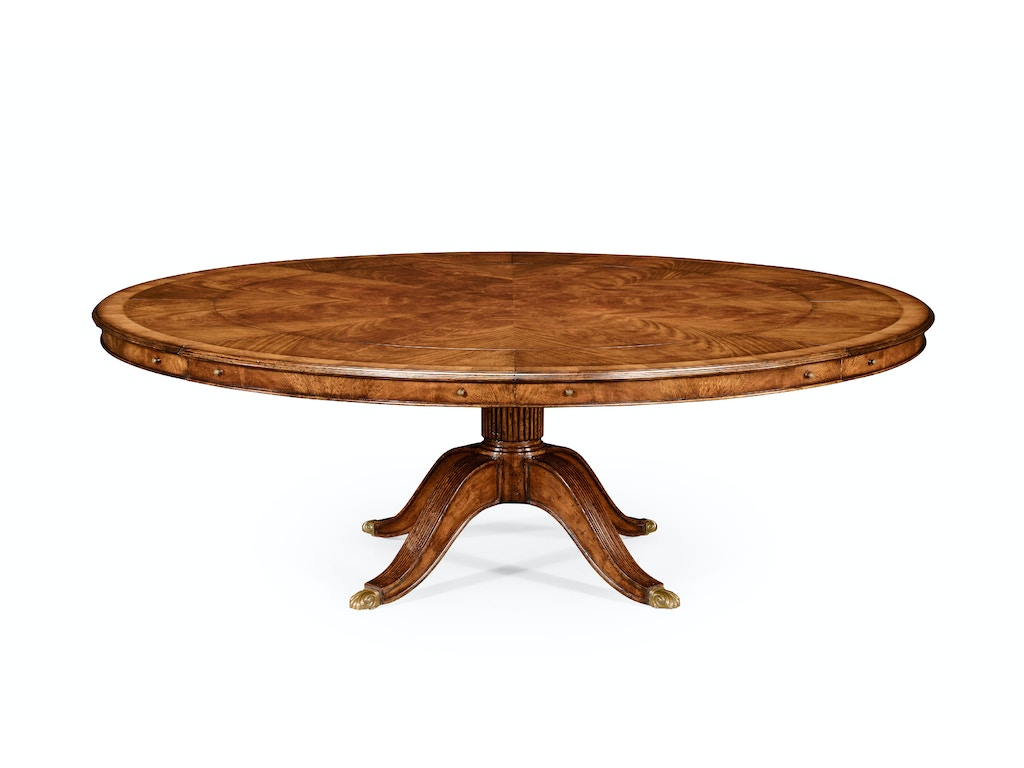 66 Round Dining Table Jonathan Charles 493070 66d 66 Walnut Extending Circular Dining