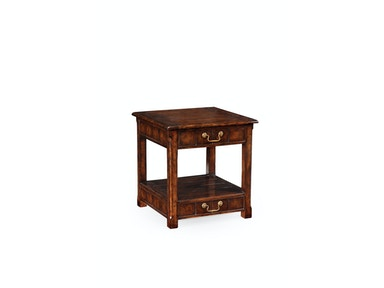 Jonathan Charles Walnut Planked Square Side Table