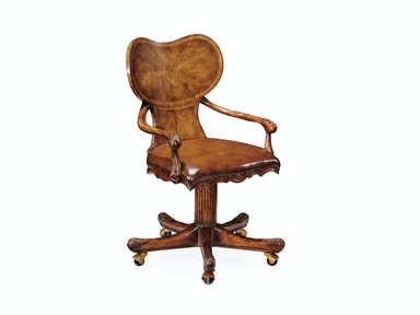Jonathan Charles George I Style Adjustable Kidney Desk Chair (Walnut) 493229-LEA-02