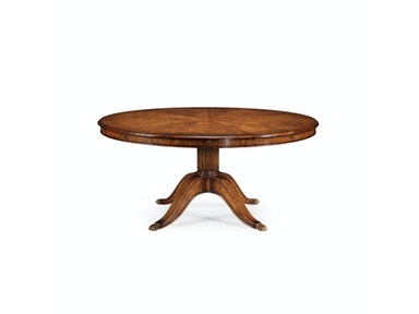 "Jonathan Charles 66"" Walnut Extending Circular Dining/ Games Table 493240-66D"