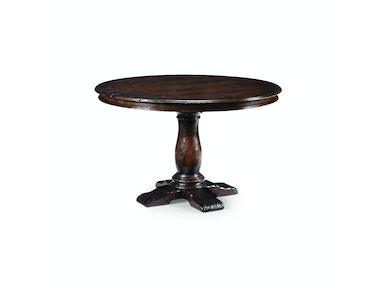"Jonathan Charles 48"" French Country Dark Oak Table 493247-48D"