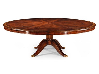 "Jonathan Charles 66"" Mahogany Extending Circular Dining/Games Table 493347-66D"
