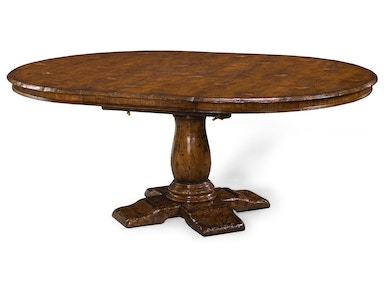 "Jonathan Charles 48"" Extending Dark Oak Country Table 493372-48D"