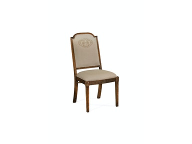 Jonathan Charles Upholstered Dining Chair With Gold Embroidery (Side) 493395