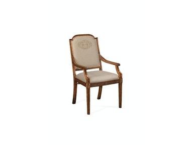 Jonathan Charles Upholstered Dining Chair With Gold Embroidery (Arm) 493396