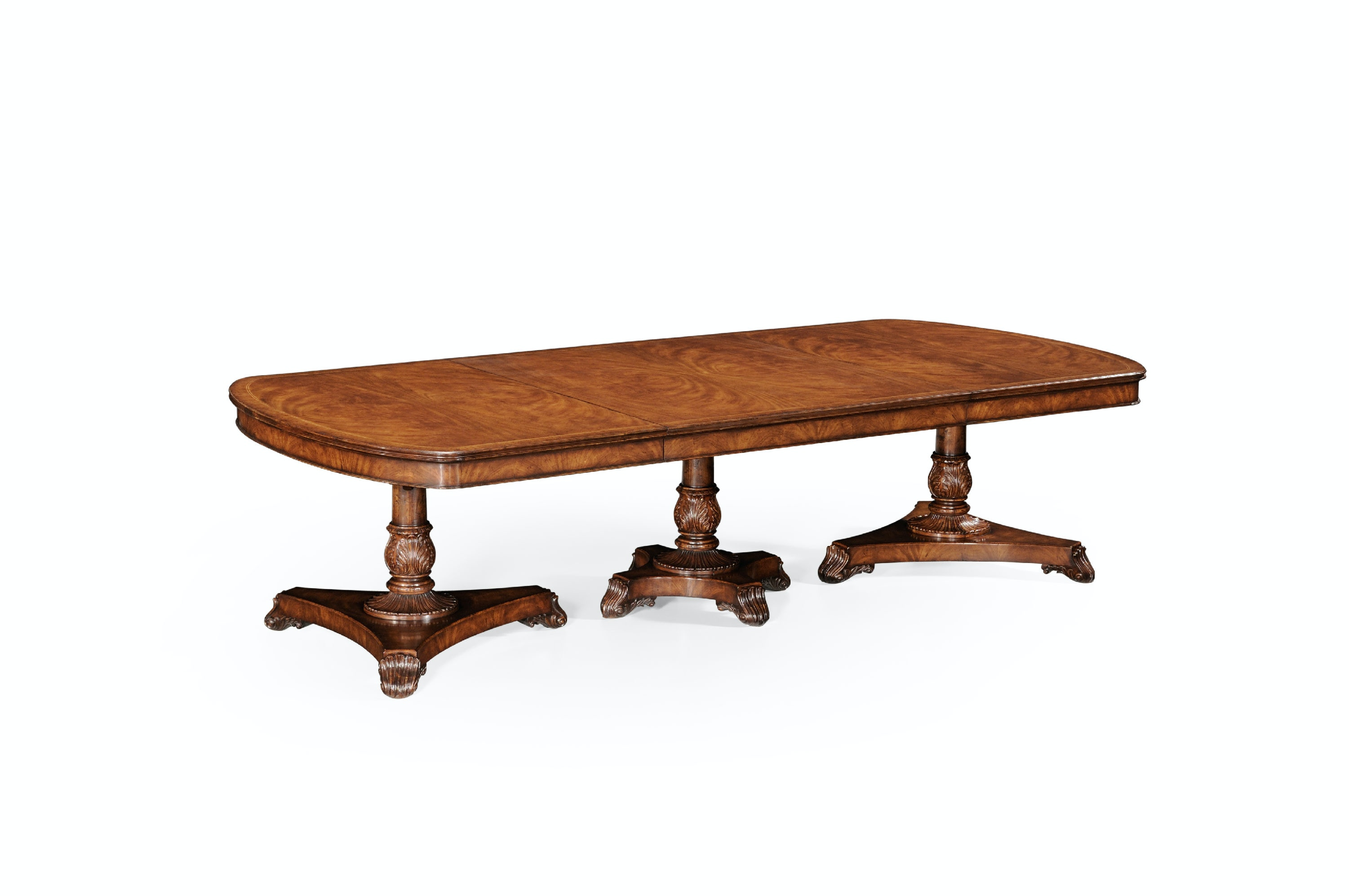 Free Jonathan Charles Dining Room Triple Pedestal Table Walnut Sets Austin Tx With