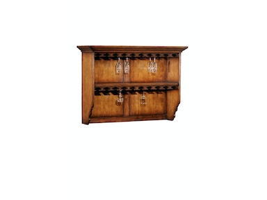 Jonathan Charles Hanging Shelf With Glass Storage 494022