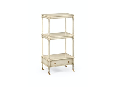 Jonathan Charles Three-Tier Grey Rub-Through Etagere 494131