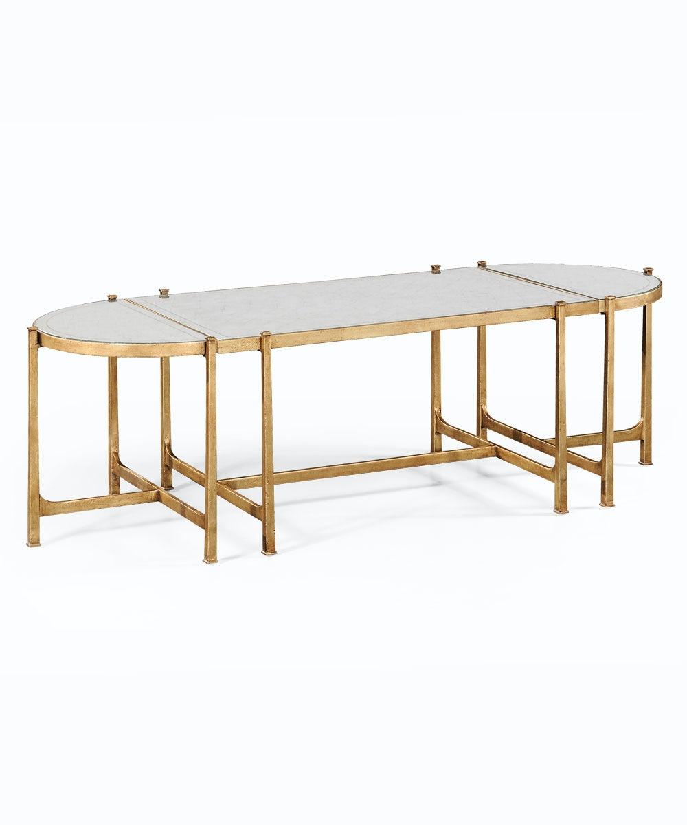 Jonathan Charles Eglomise U0026 Gilded Iron Bunching Tables 494148 G