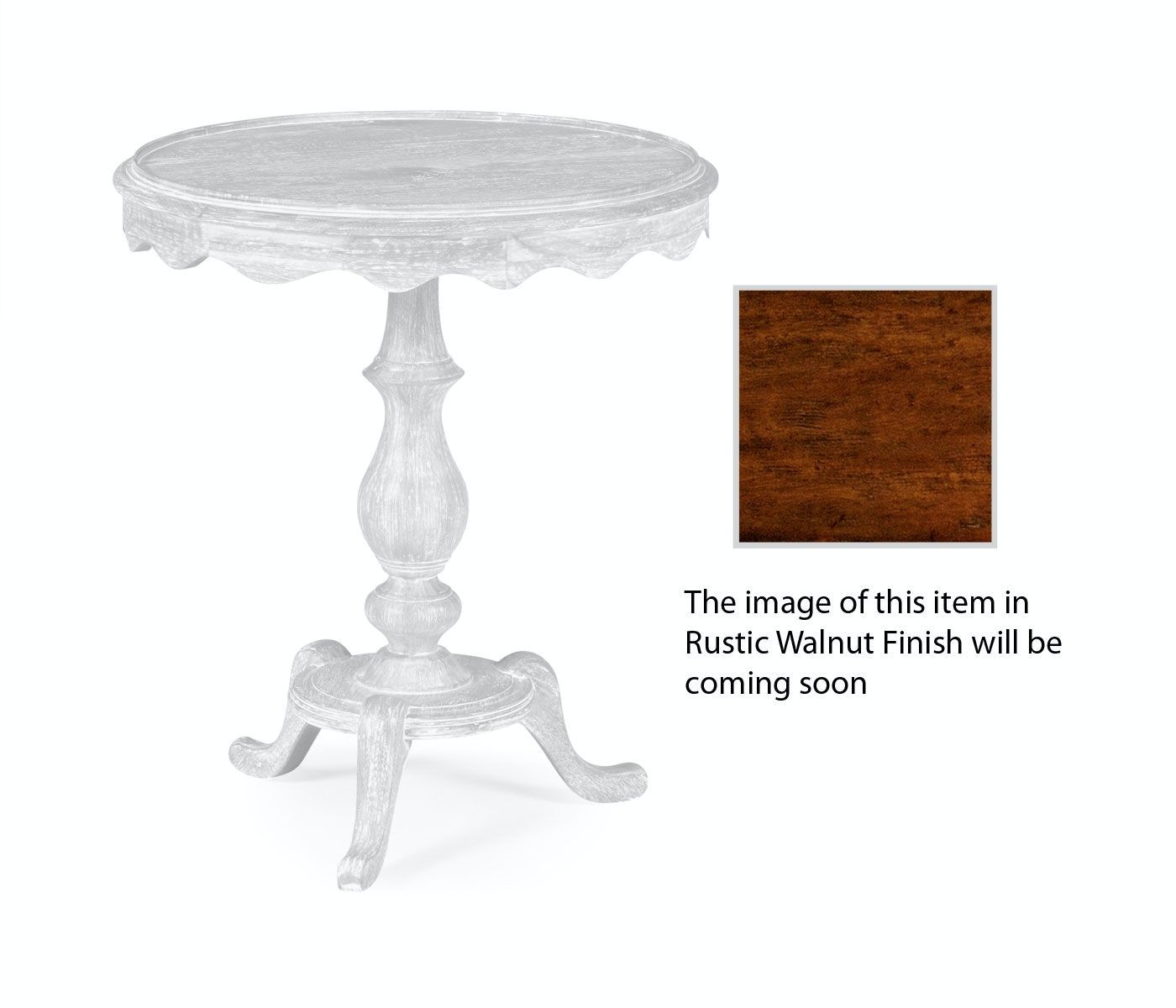 Jonathan Charles Living Room Round Rustic Walnut Lamp Table
