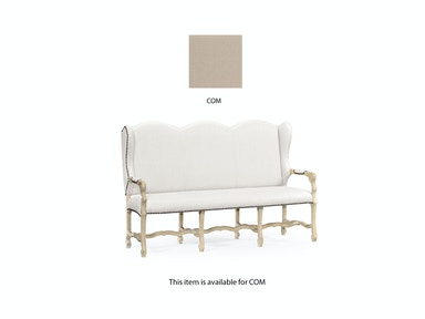 Jonathan Charles Three-Seater Bench In Limed Acacia, Upholstered In Com 495440-LMA-COM