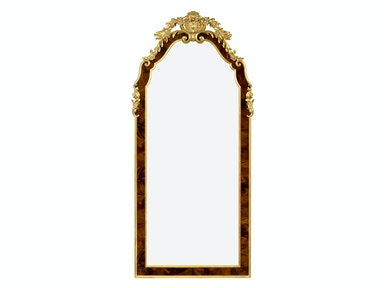 Jonathan Charles Standing Mirror With Gilt Carved Detailling