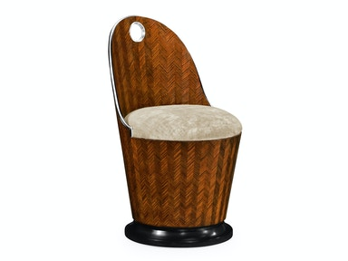 Jonathan Charles Feather Inlay Dressing Chair 495576-ZEB