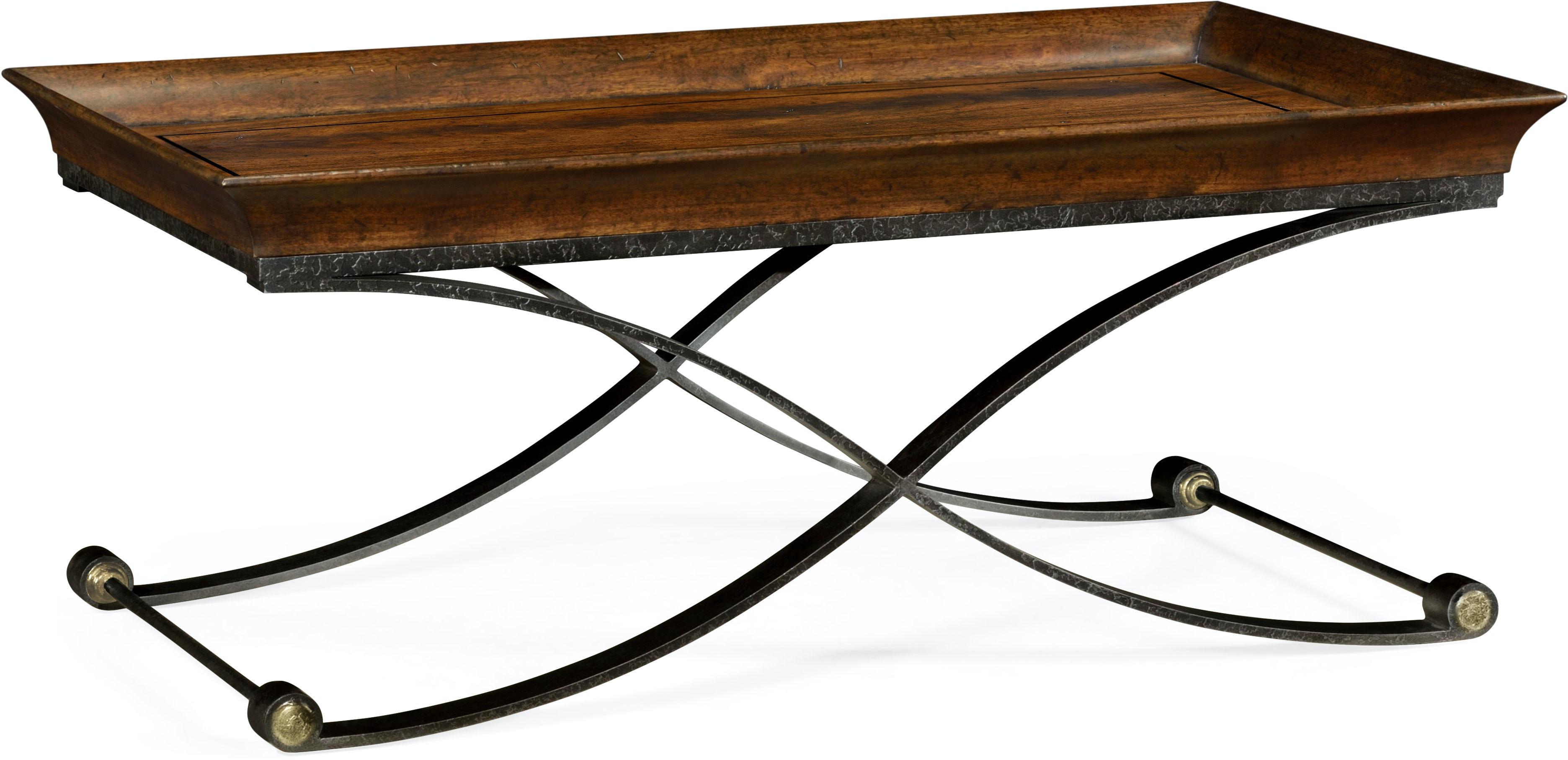 Jonathan Charles Living Room Brown Mahogany Coffee Table