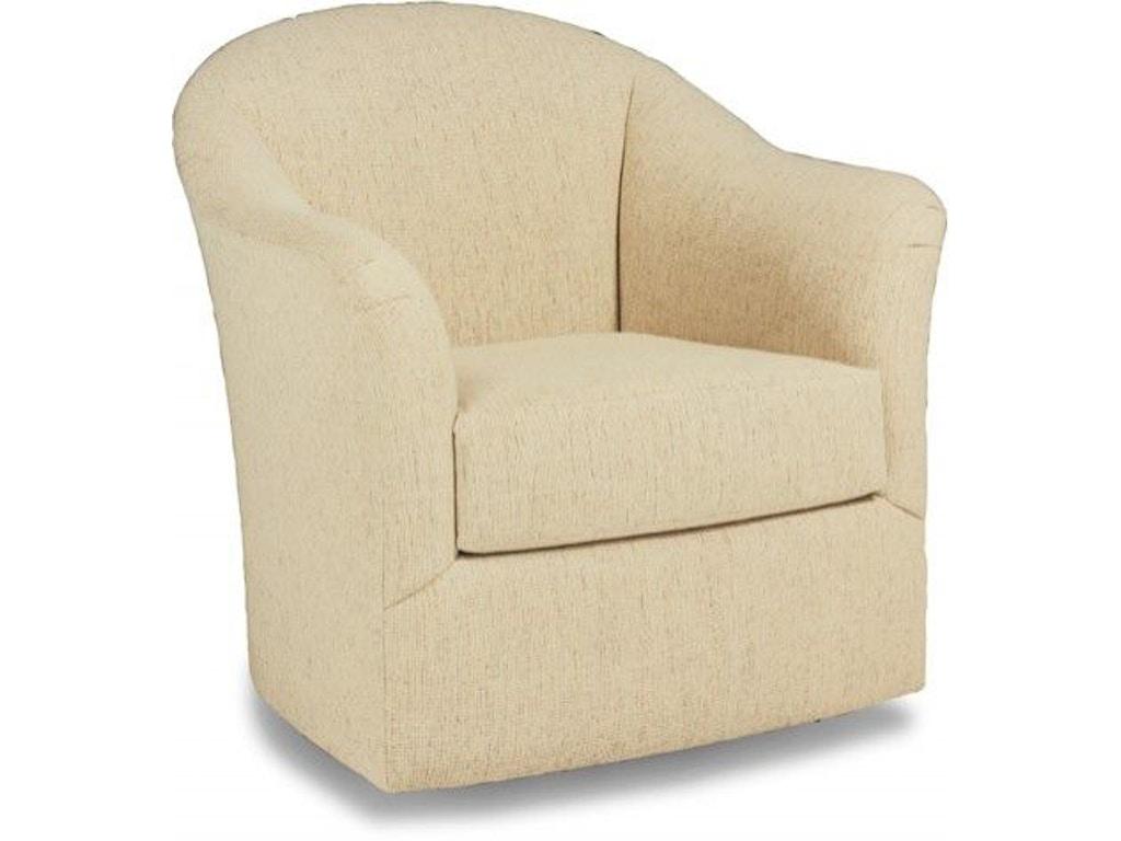 Precedent Furniture Living Room Riley Swivel Chair 9306 C3 Mcelherans Fine Furniture