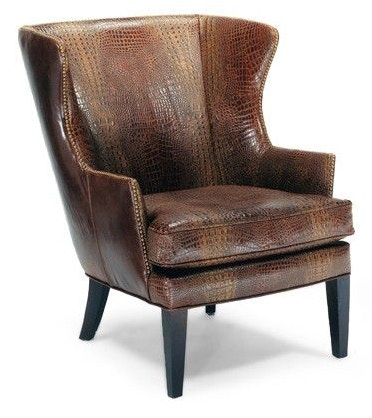 Precedent Furniture Leather Wing Chair L2509 C1